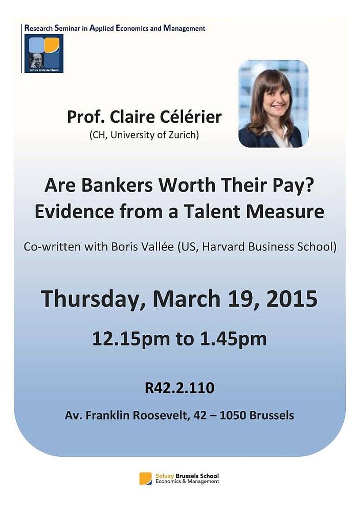 Research Seminars in Applied Economics